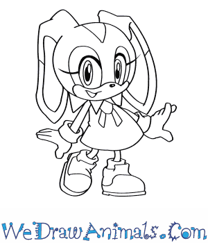 300x350 How To Draw Cream The Rabbit From Sonic The Hedgehog