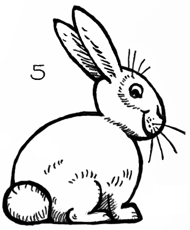 372x449 Finished Bunny Rabbit Drawing Tutorial