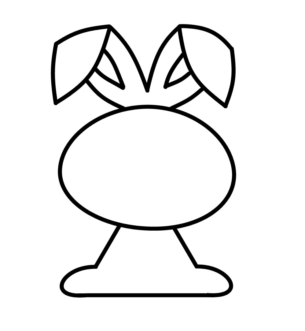 998x1082 Rabbit Drawing For Kids Easter Bunny Drawings Happy 2017