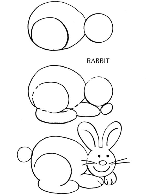 560x750 Bunny Rabbit Drawing Tutorial Draw Bunny Rabbit
