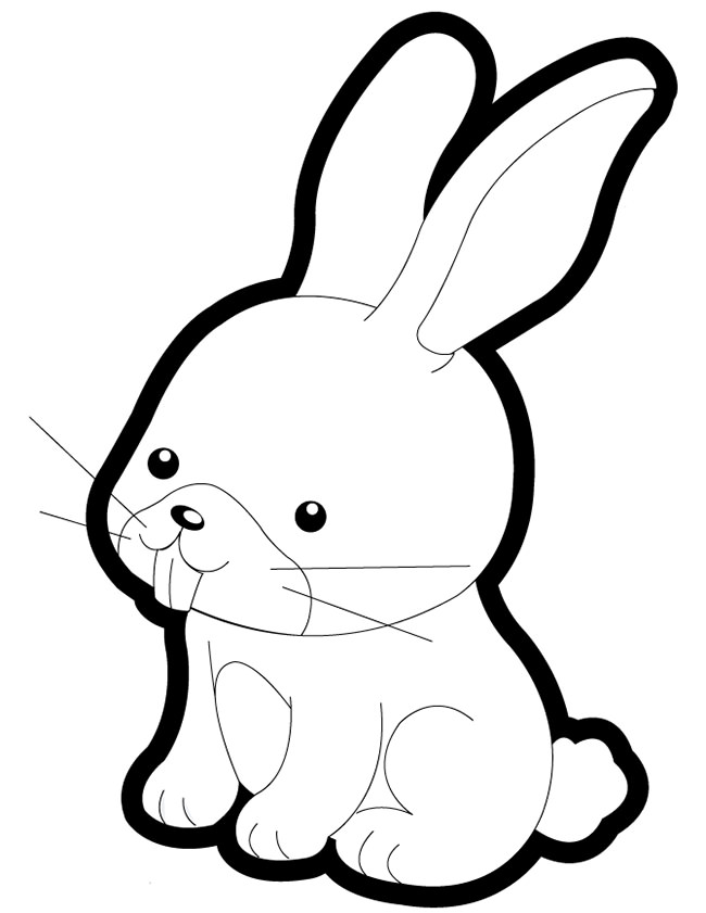 650x841 Rabbit Template 1304x1500 Rabbits Coloring Pages Free