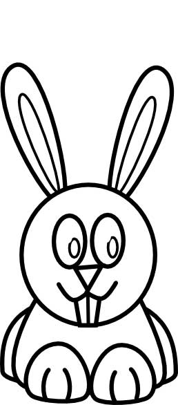 258x586 Bunny Rabbit Coloring Page For Kids