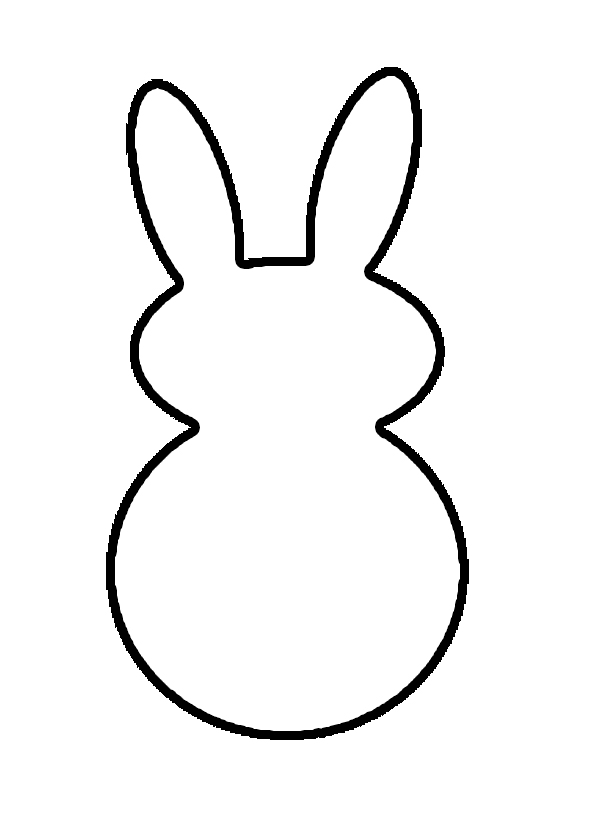 600x820 Chic Rabbit Outline Free Download Clip Art On Images Drawing