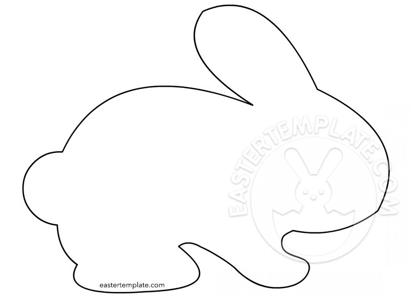 803x581 Outline Of Bunny Coloring Page Easter Template