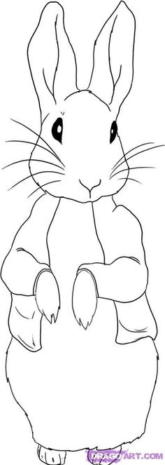 236x663 Simple Line Drawing Peter Rabbit