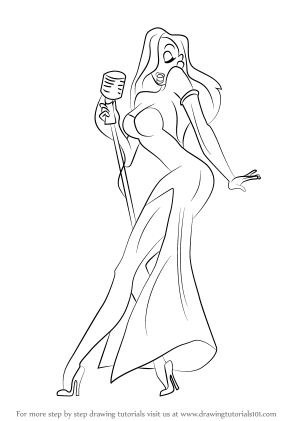 596x842 Learn How To Draw Jessica Rabbit (Jessica Rabbit) Step By Step