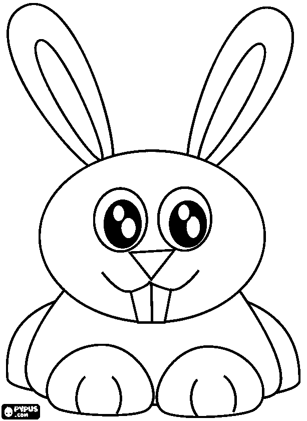 613x840 Rabbit Ears Coloring Pages