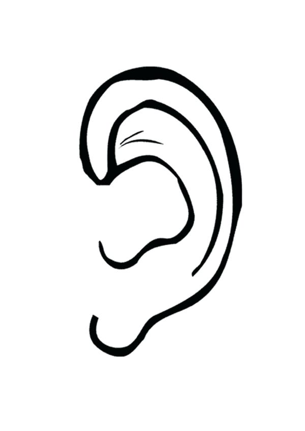600x847 Unique Ear Coloring Page For Rabbit Ears Template Coloring Page 22