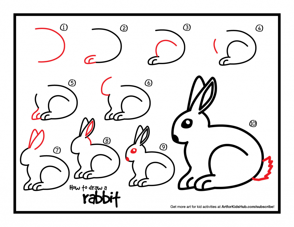 1024x791 How To Draw A Bunny For Kids Easy Drawing Tutorials For Kids