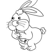 220x220 Cute Rabbit Coloring Pages