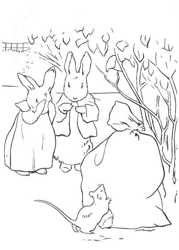 600x840 Rabbit Eating Carrot Coloring Pages