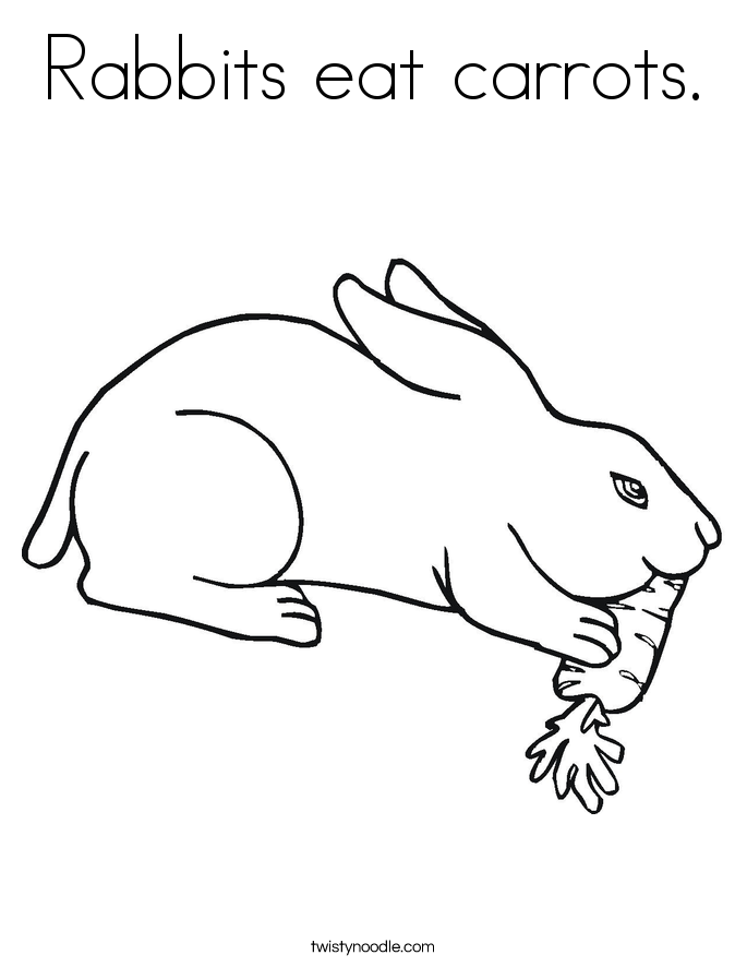 685x886 Rabbits Eat Carrots Coloring Page