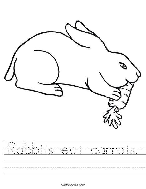 468x605 Rabbits Eat Carrots Worksheet