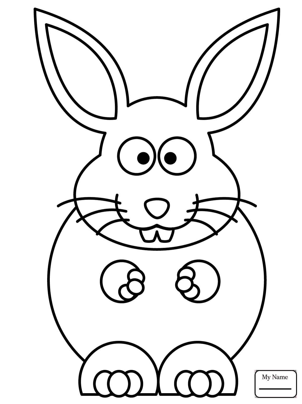 1146x1530 Coloring Pages For Kids Mammals Chibi Bunny With Carrot