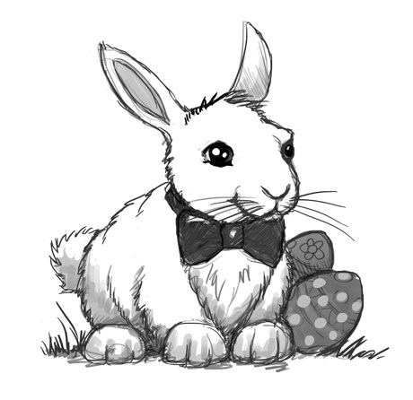 460x446 Complete Easter Bunny Drawings Face Drawing Craftshady