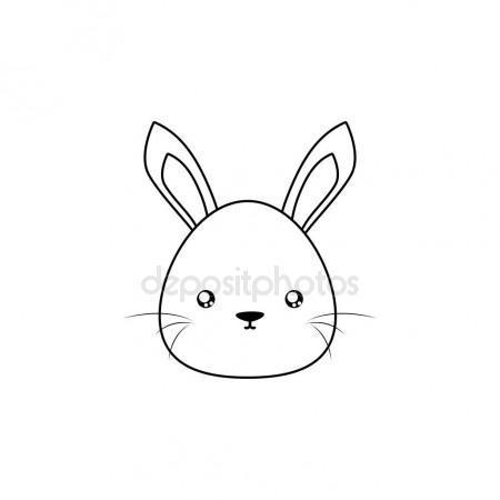 450x450 Rabbit Drawing Face Stock Vector Davids47