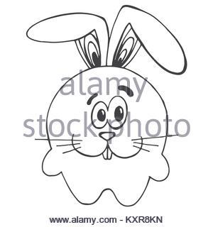 300x320 Sketch Draw Rabbit Face Cartoon Stock Vector Art Amp Illustration