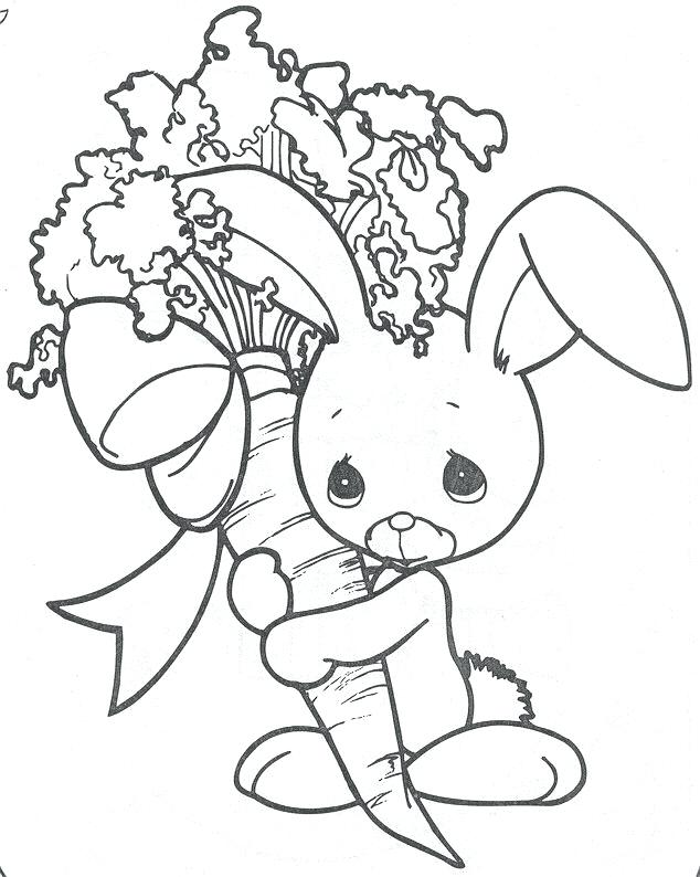 634x794 Bunny Rabbit Coloring Pages Precious Moments Bunny Coloring Page