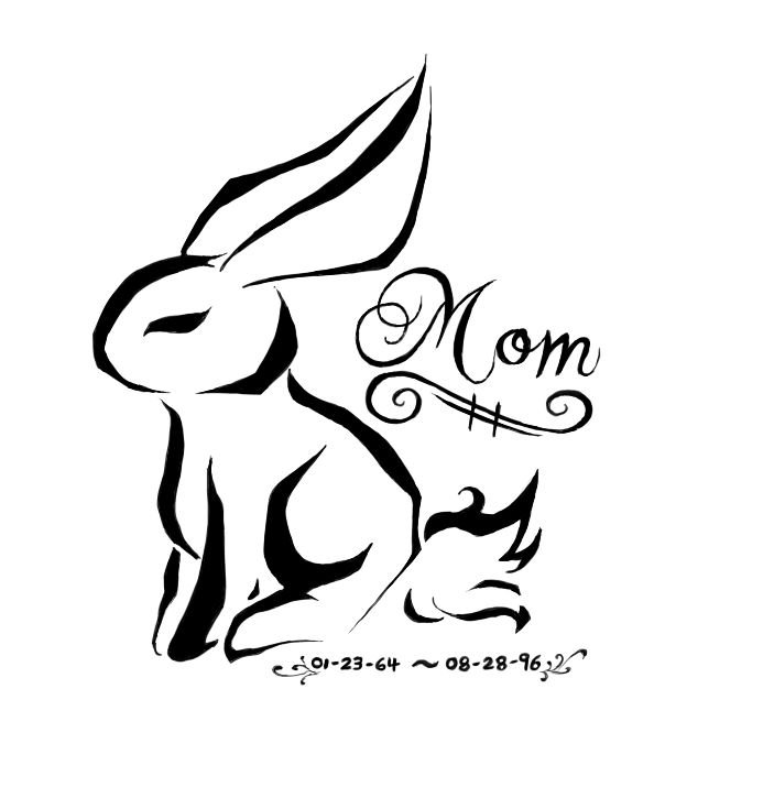 703x735 Mom Rabbit Tattoo Design Real Photo Pictures Images And Sketches