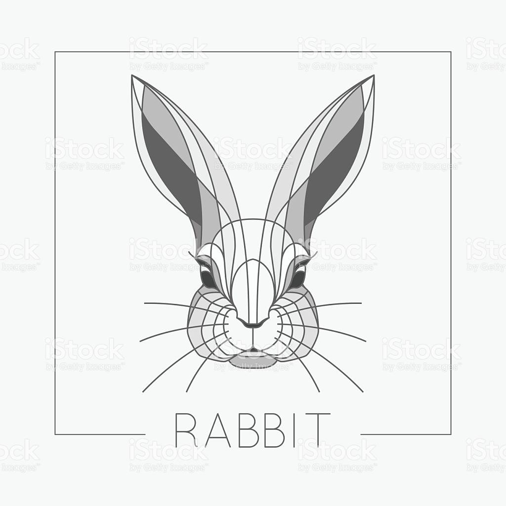 1024x1024 Abstract Rabbit Bunny Head Emblem Icon Design With Elegant Line