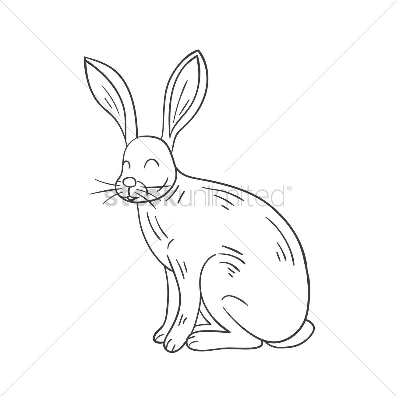 1300x1300 Rabbit Vector Image