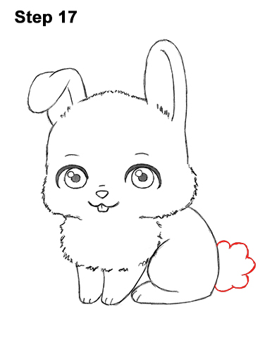 386x500 Cute Rabbit Line Drawing