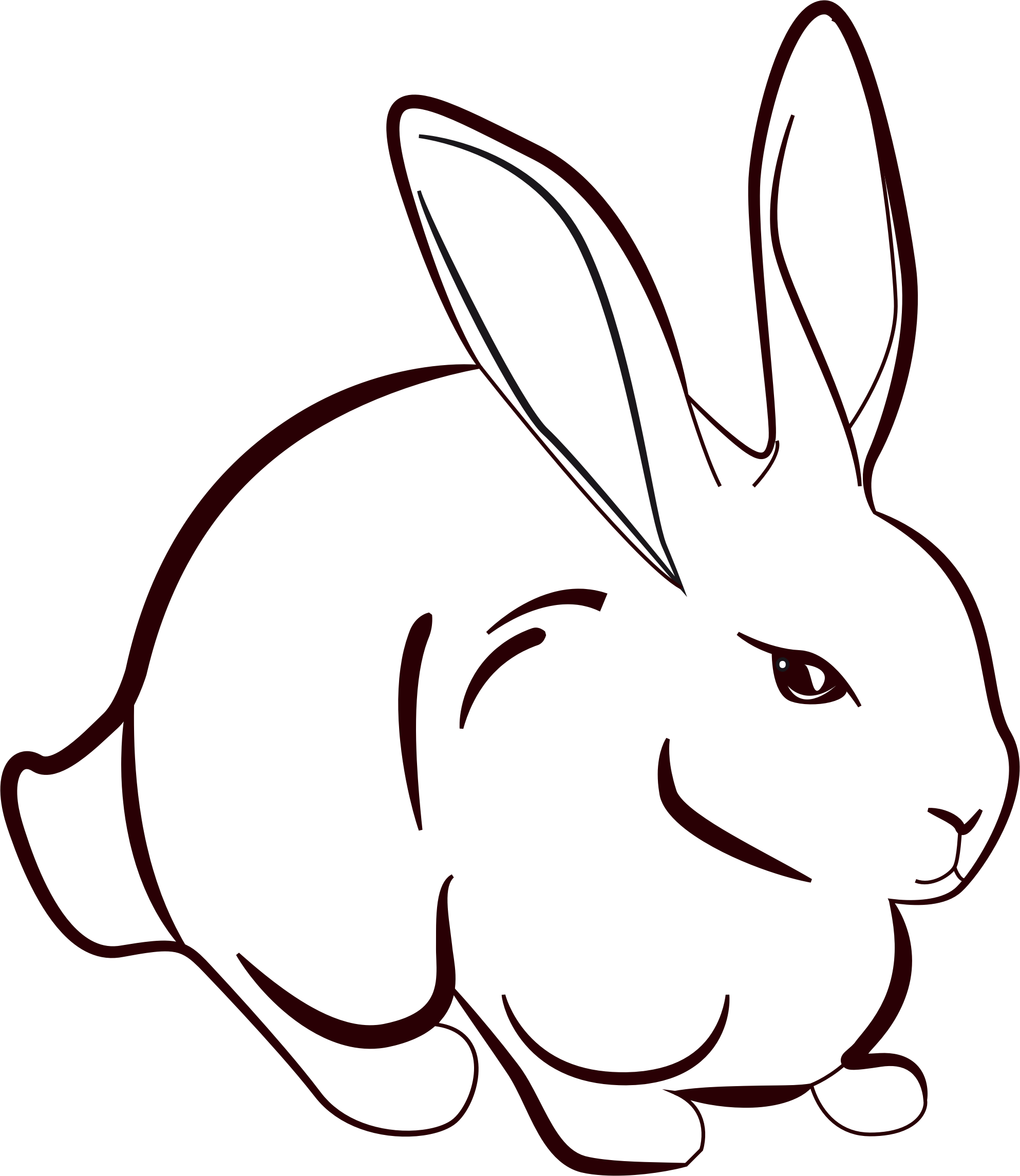 1986x2290 Image Result For Line Art Rabbit Graphics Rabbit