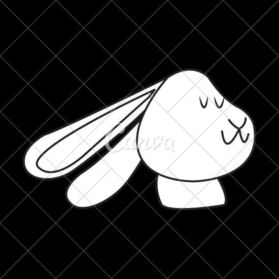 550x550 Christmas Rabbit Animal Ears Outline