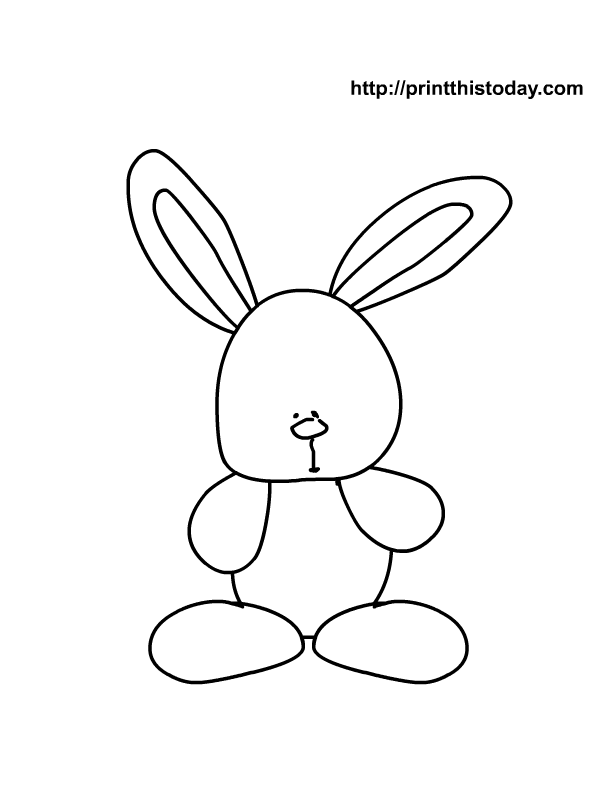612x792 Easter Bunny Outline Many Interesting Cliparts