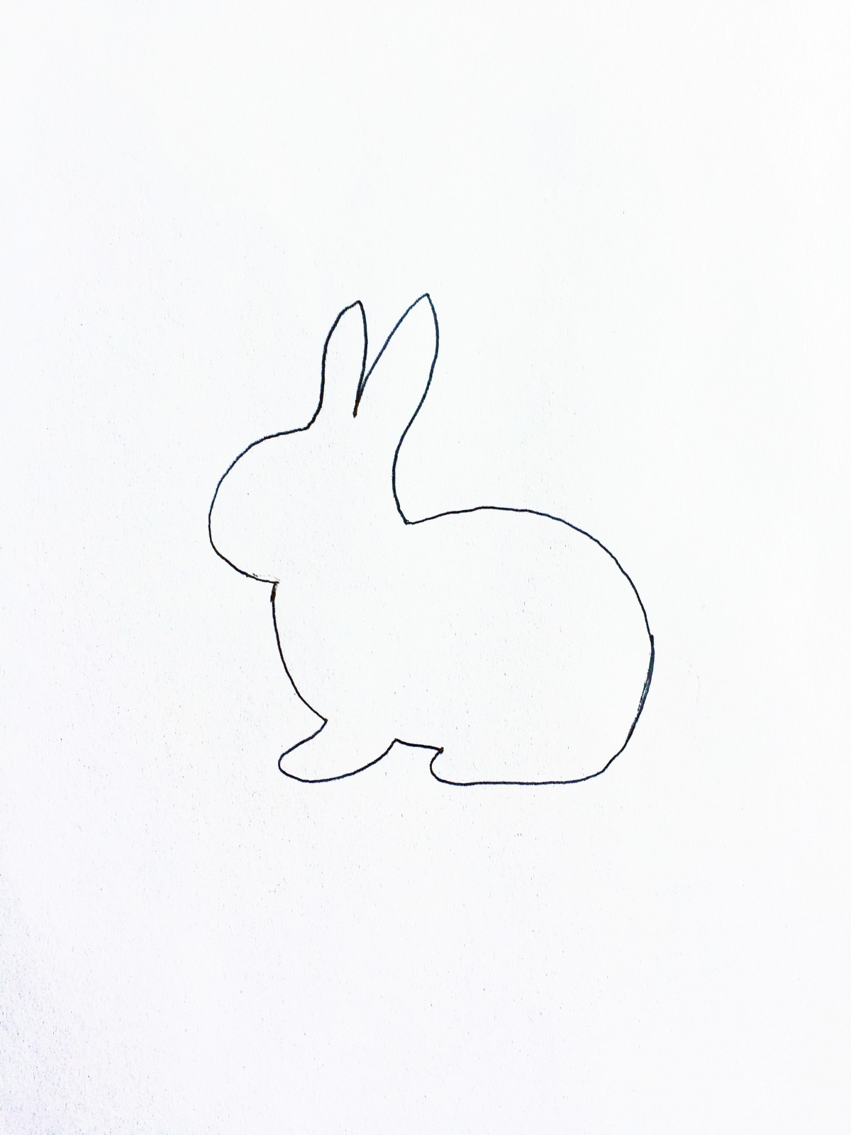 1200x1600 How To Make A Glitter Bunny Card