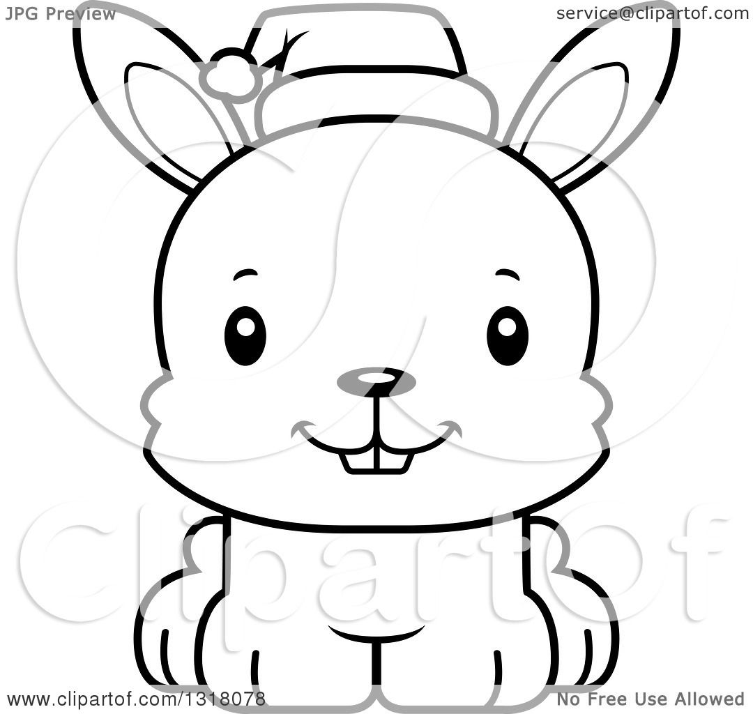 Rabbit Outline Drawing