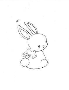 Rabbit Outline Drawing at GetDrawings com | Free for
