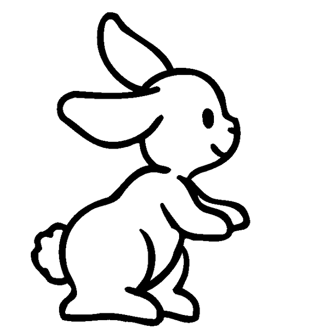 612x652 Easy Bunny Drawings Coloring Pages Drawing Of A Rabbit
