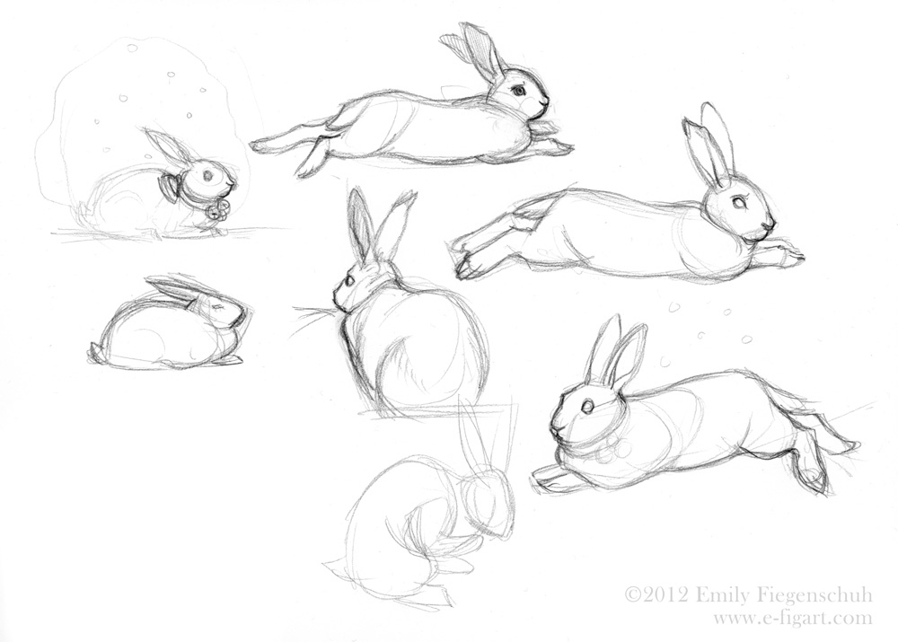 1000x715 Fabled Earth The Art Of Emily Fiegenschuh Bunny Sketches