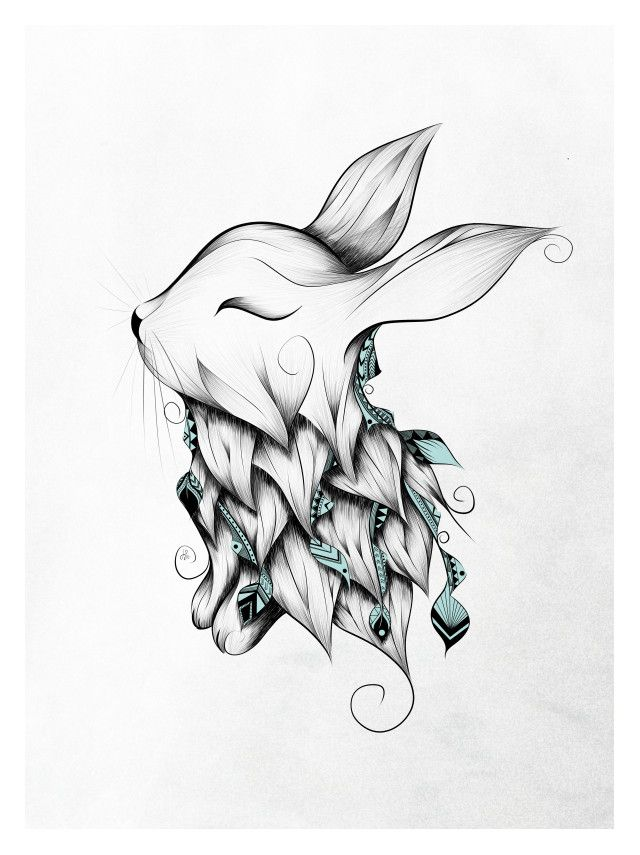 640x855 Poetic Rabbit Whatto Draw Rabbit, Tattoo And Drawings