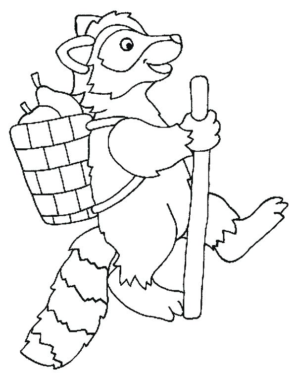 600x766 Entertaining Raccoon Coloring Pages Kids Beautiful Free Download