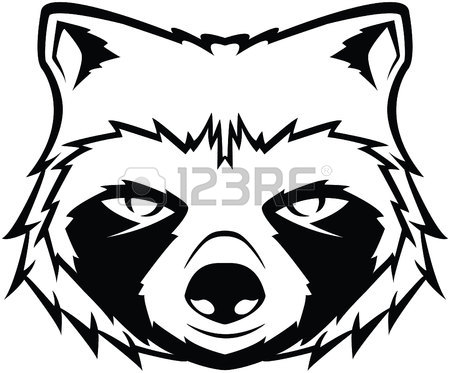 450x373 Vector Raccoon Icon, Little Raccoon Icon On White Background