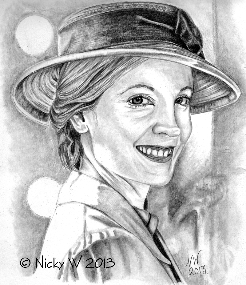 800x926 Pencil Drawing Of Anna Bates From Downton Abbey My Sketches