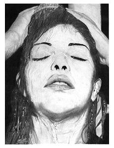 230x300 Beautiful Woman With Horse Realistic Graphite Pencil Drawing By