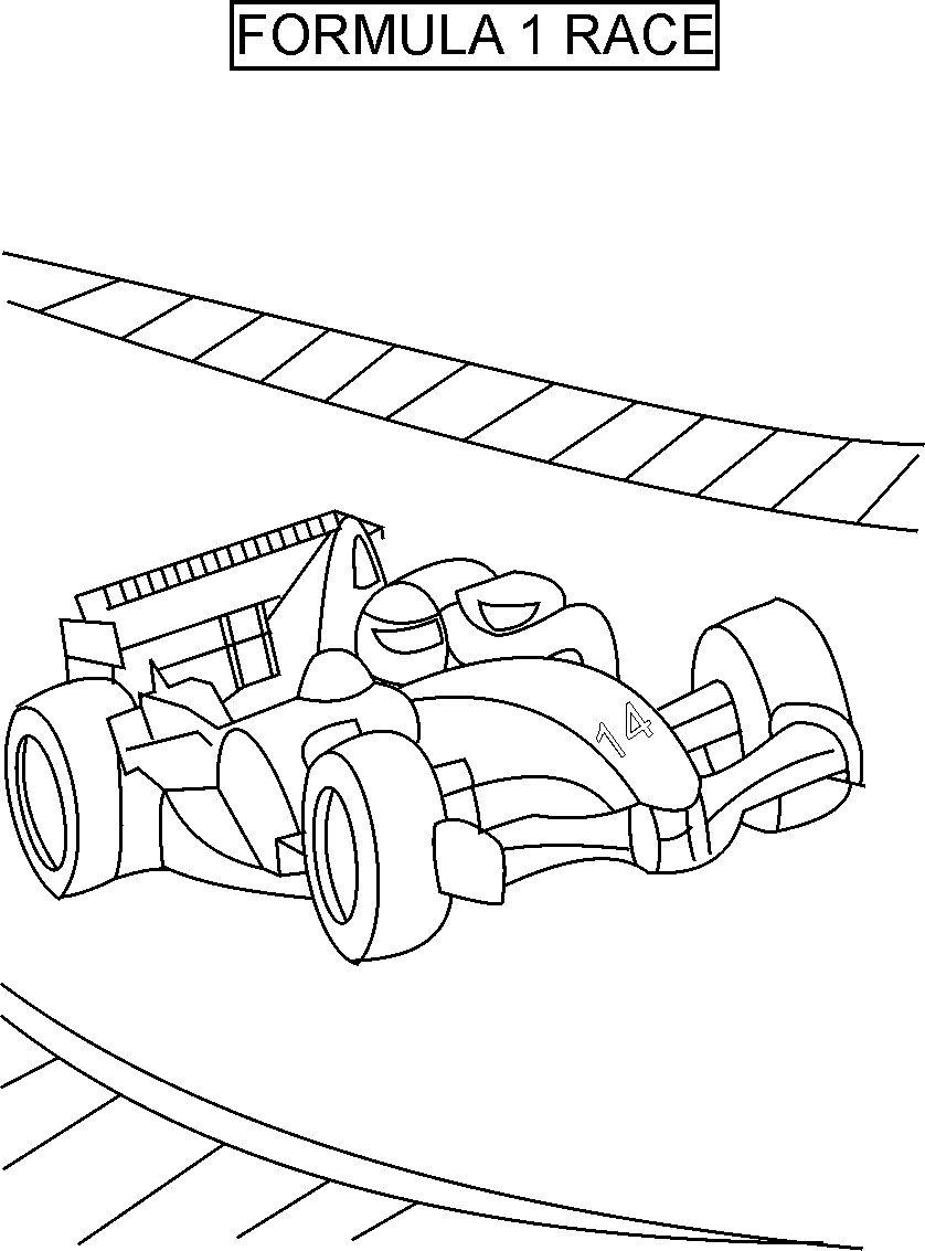838x1133 Free Printable Race Car Coloring Pages For Kids