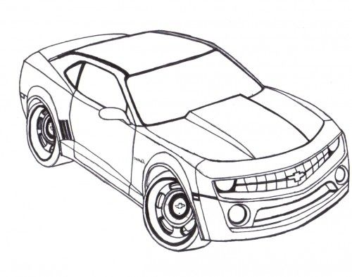 500x394 Camaro Coloring Pages
