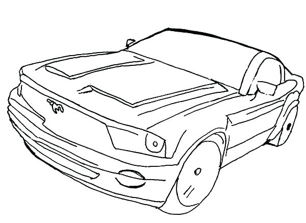 600x437 Mustang Car Coloring Pages Mustang Coloring Pages Classic Mustang