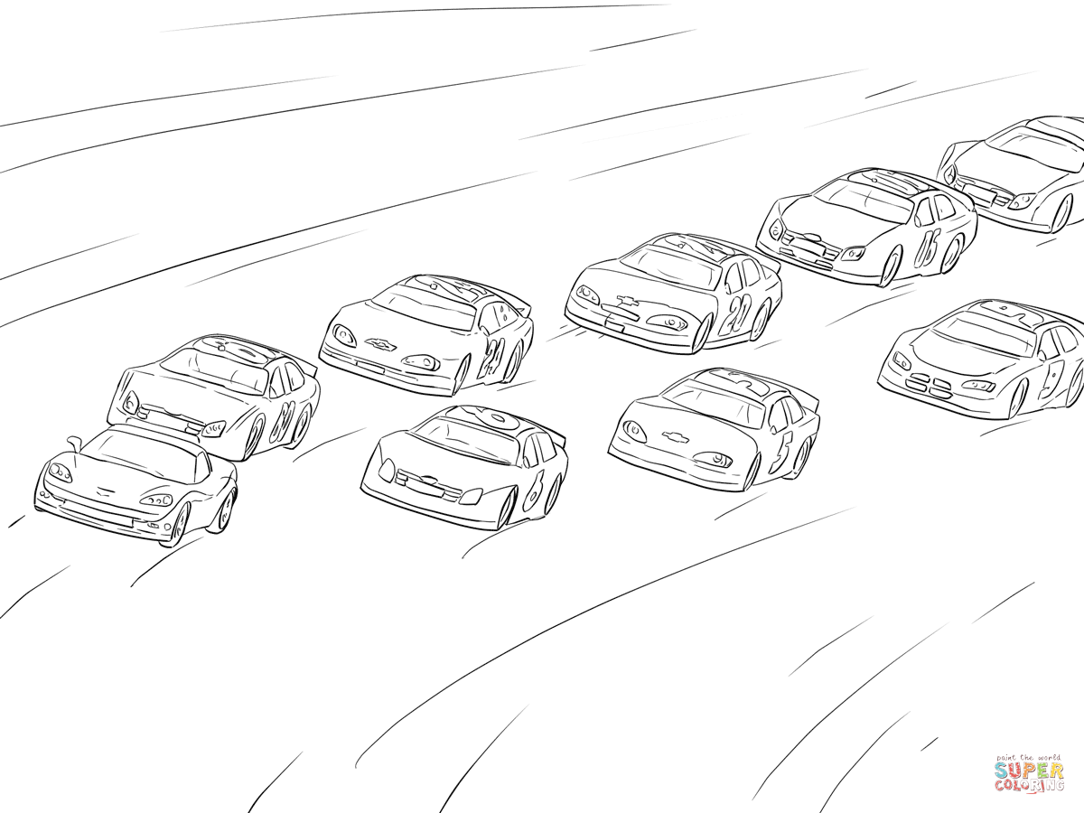 1200x900 Nascar Racing Coloring Page Free Printable Pagesnd How To Draw