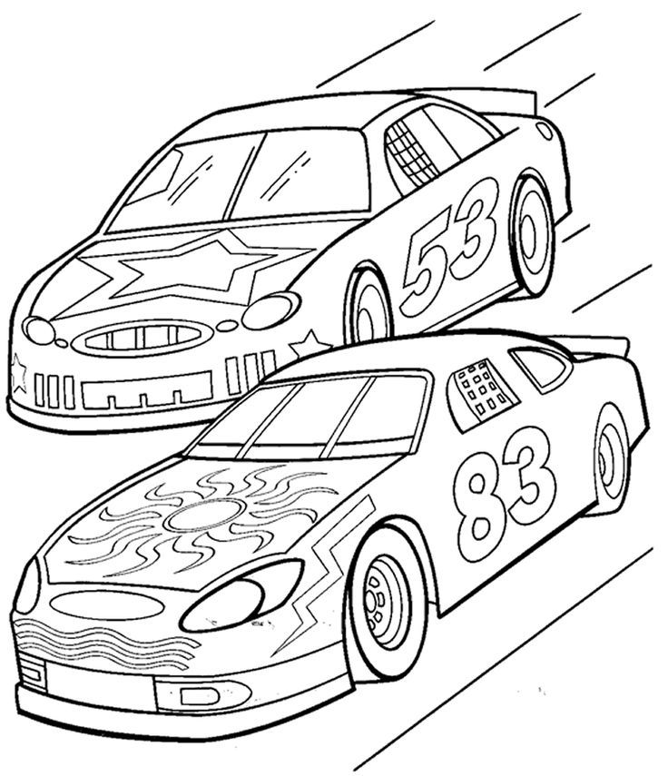 736x855 Printable Race Car Coloring Pages The Motor Show