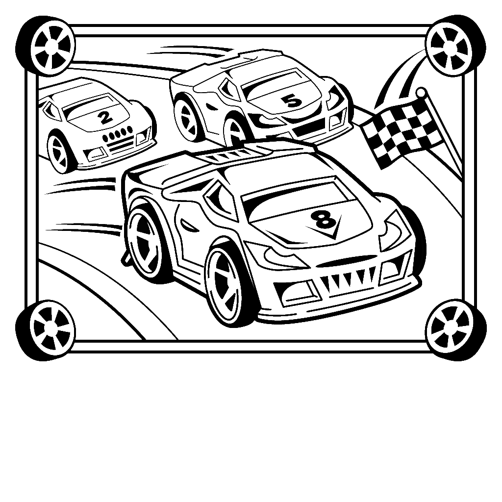 1024x1024 Race Car Coloring Pages For Kids Sweet Draw Paint Kids Coloring