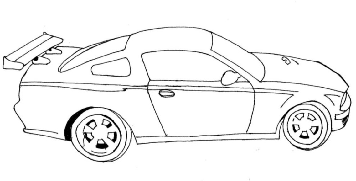 1137x577 Edge Race Car Coloring Sheet Good Pages 64 On Model