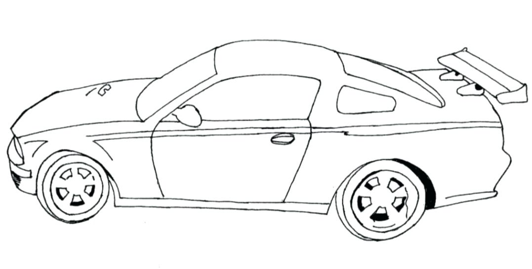 1077x546 Coloring Car Pages Easy Race Car Coloring Page To Print Car