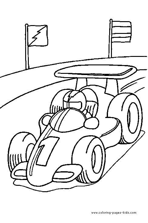 488x737 Drawn Race Car Printable
