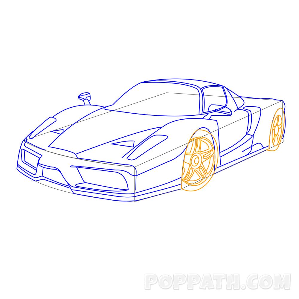 1000x1000 How To Draw A Ferrari Pop Path