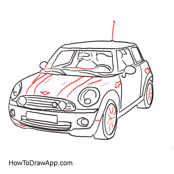 600x600 How To Draw A Car Mini Cooper Classic How To Draw